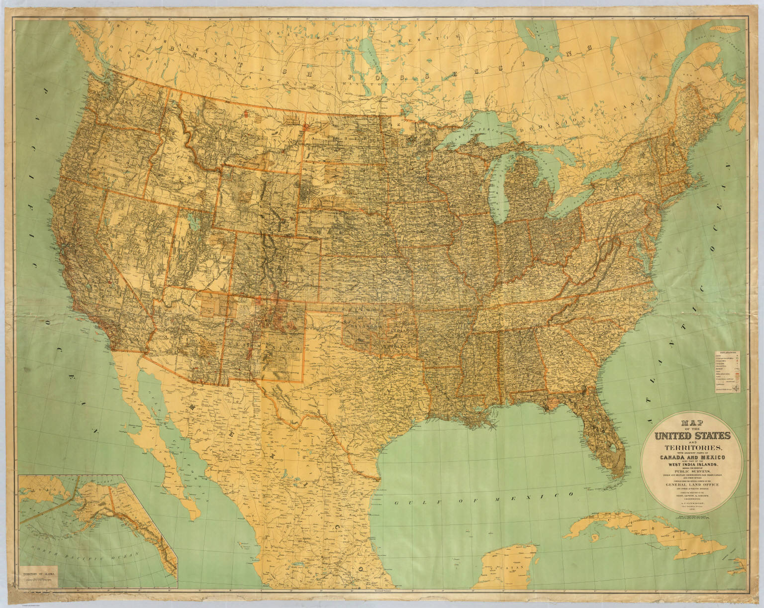 United States and territories David Rumsey Historical Map