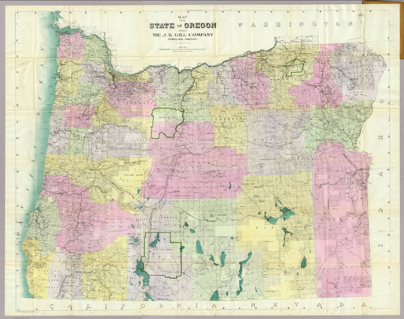 Oregon Township And Range Map State Of Oregon.   David Rumsey Historical Map Collection