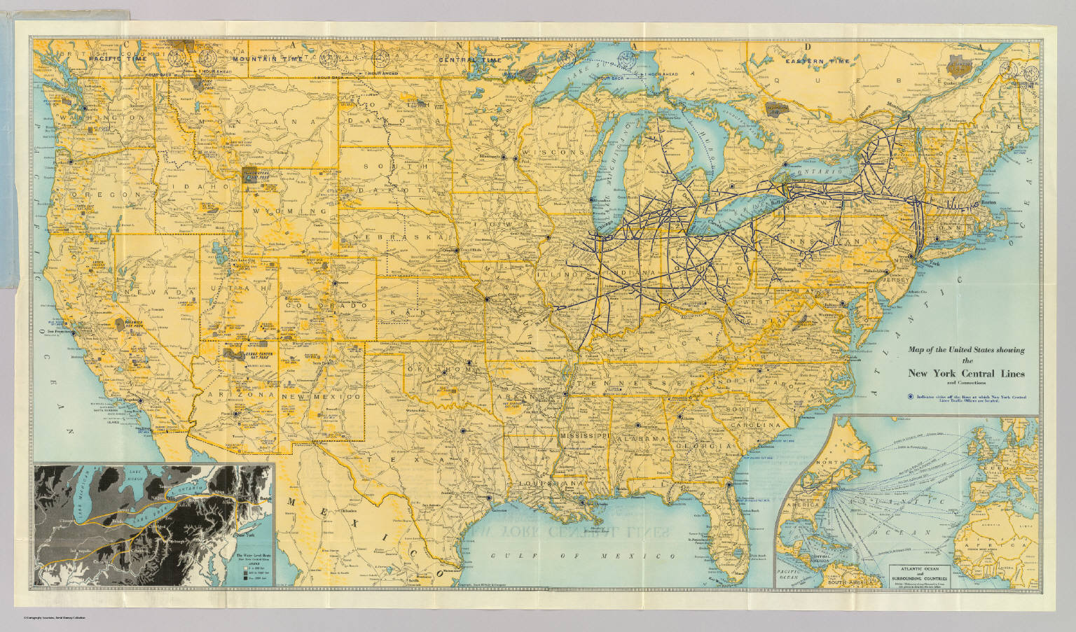 U.S. showing NY Central Lines. - David Rumsey Historical Map ...
