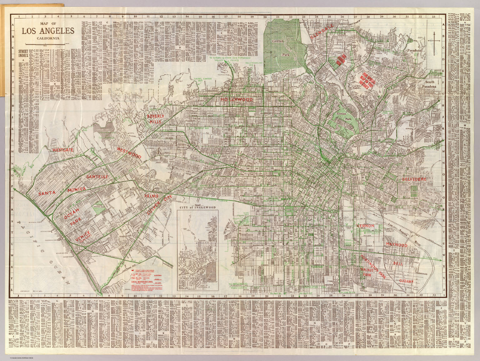 Los Angeles California David Rumsey Historical Map Collection - Buy historical maps