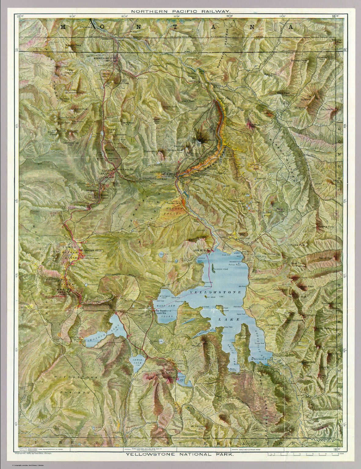 Yellowstone National Park. - David Rumsey Historical Map Collection