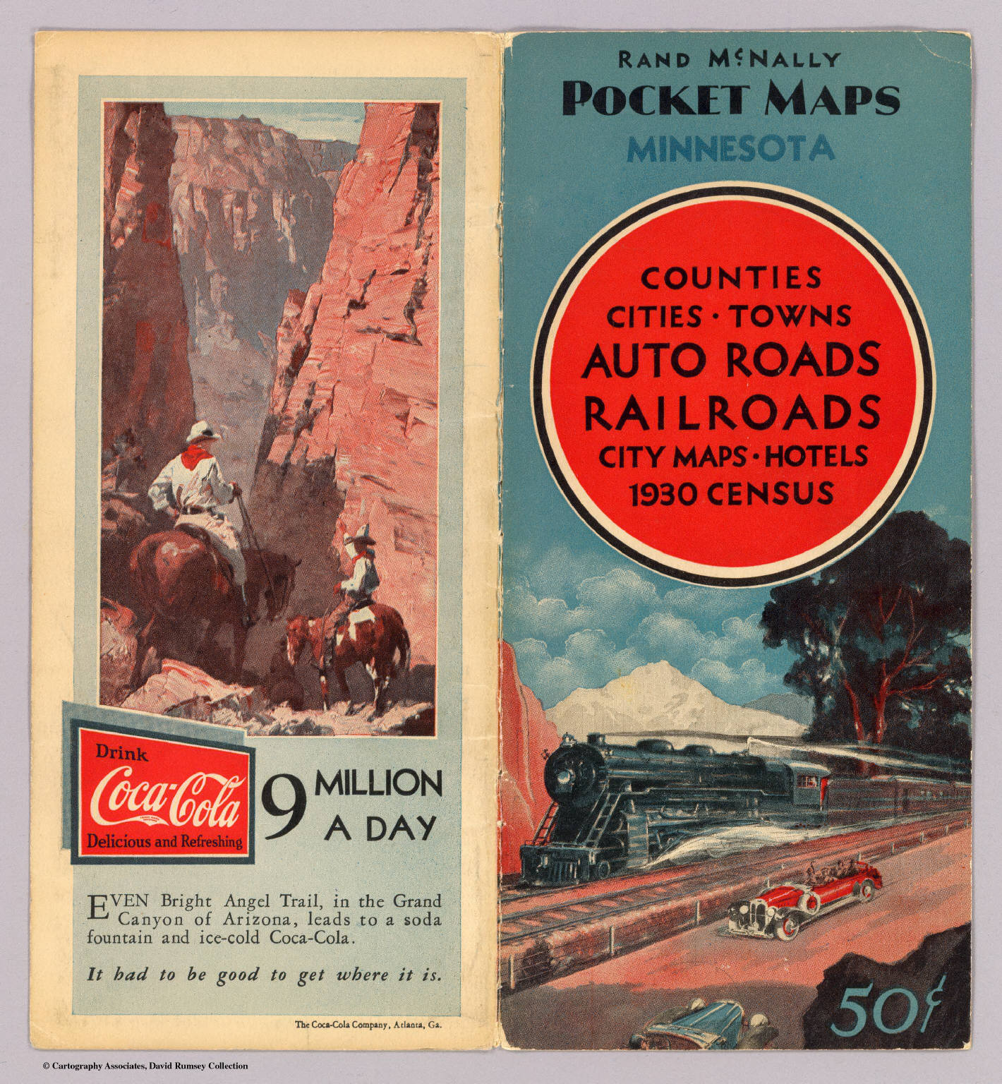 Cover: Minnesota road map. - David Rumsey Historical Map Collection