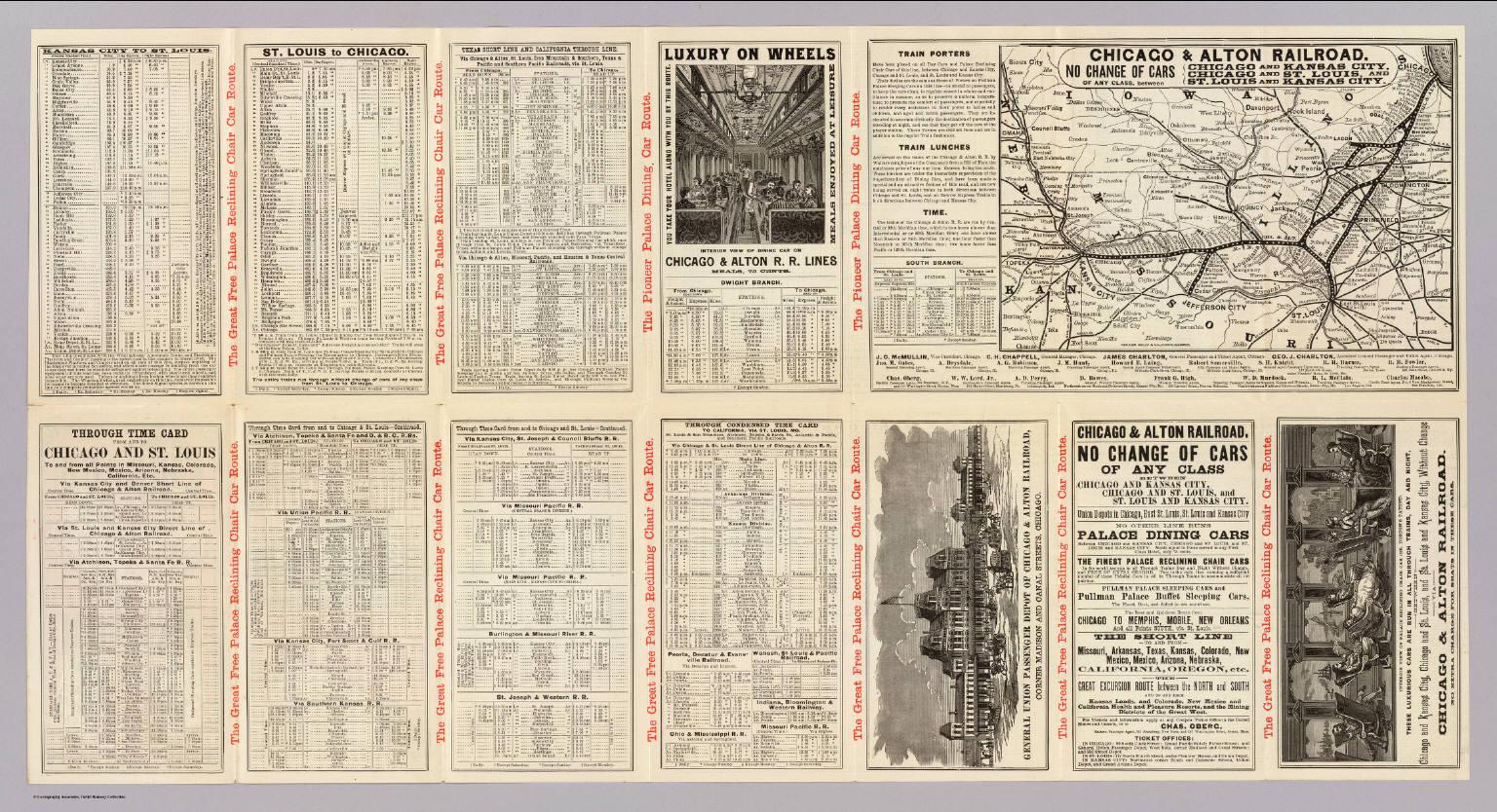 Alton Kansas Map.Chicago Alton Railroad David Rumsey Historical Map Collection