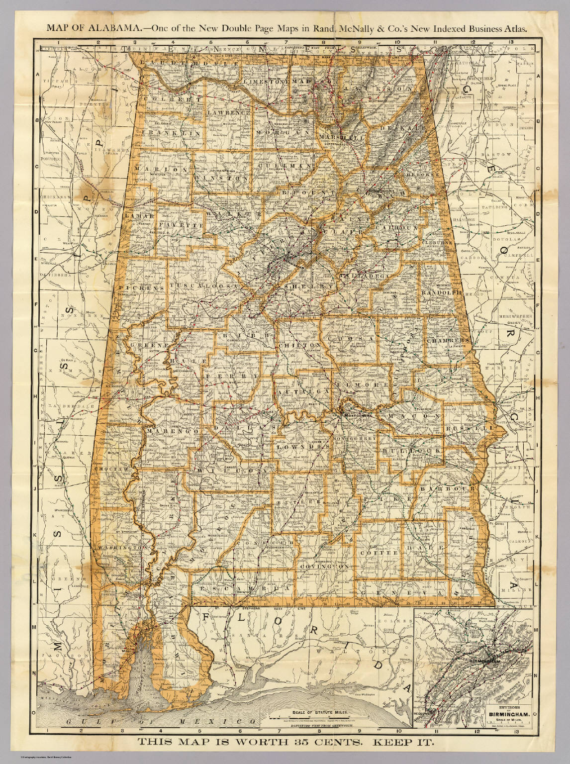 Map Of Alabama. - David Rumsey Historical Map Collection