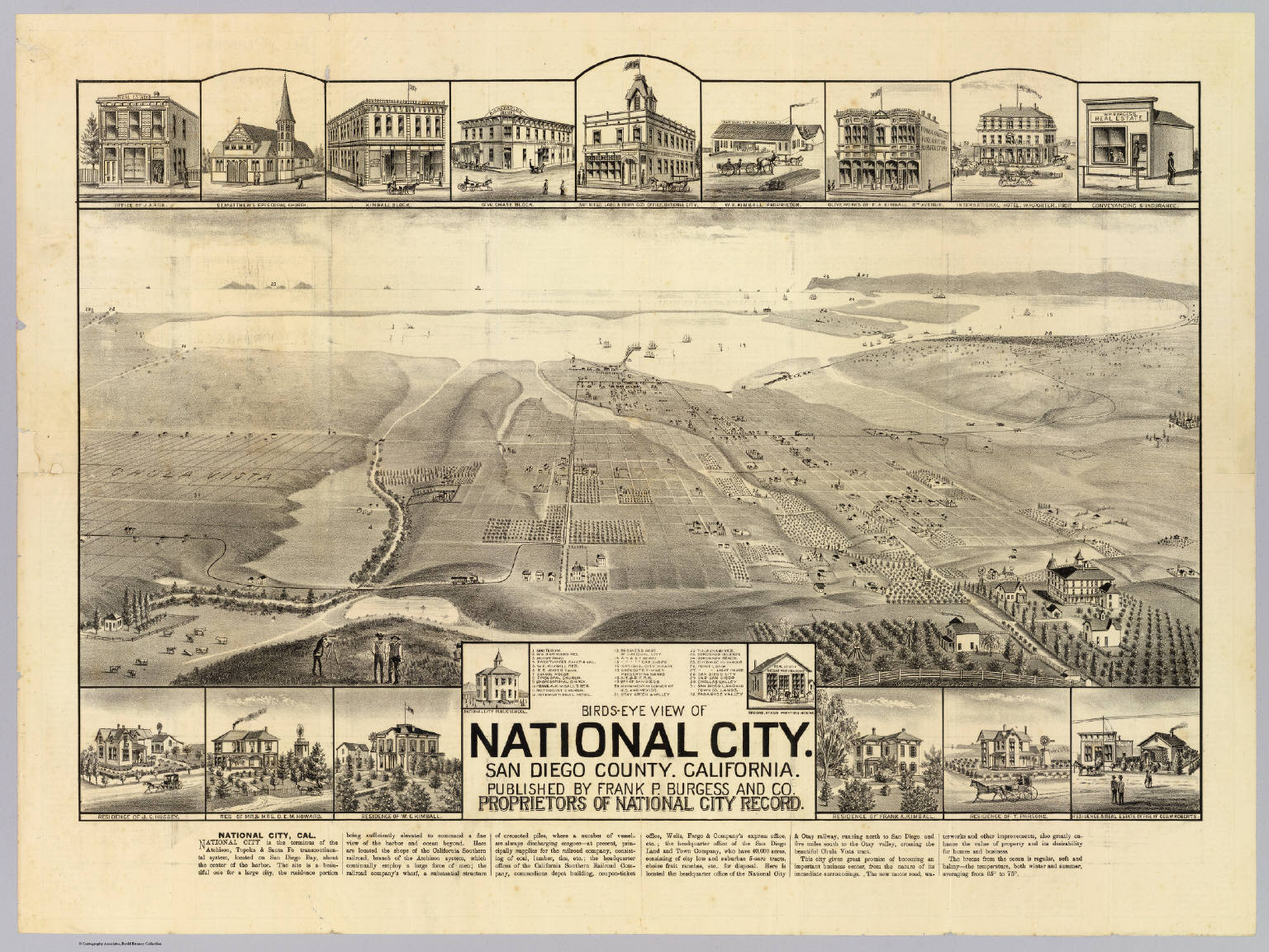 National City San Diego Co David Rumsey Historical Map Collection