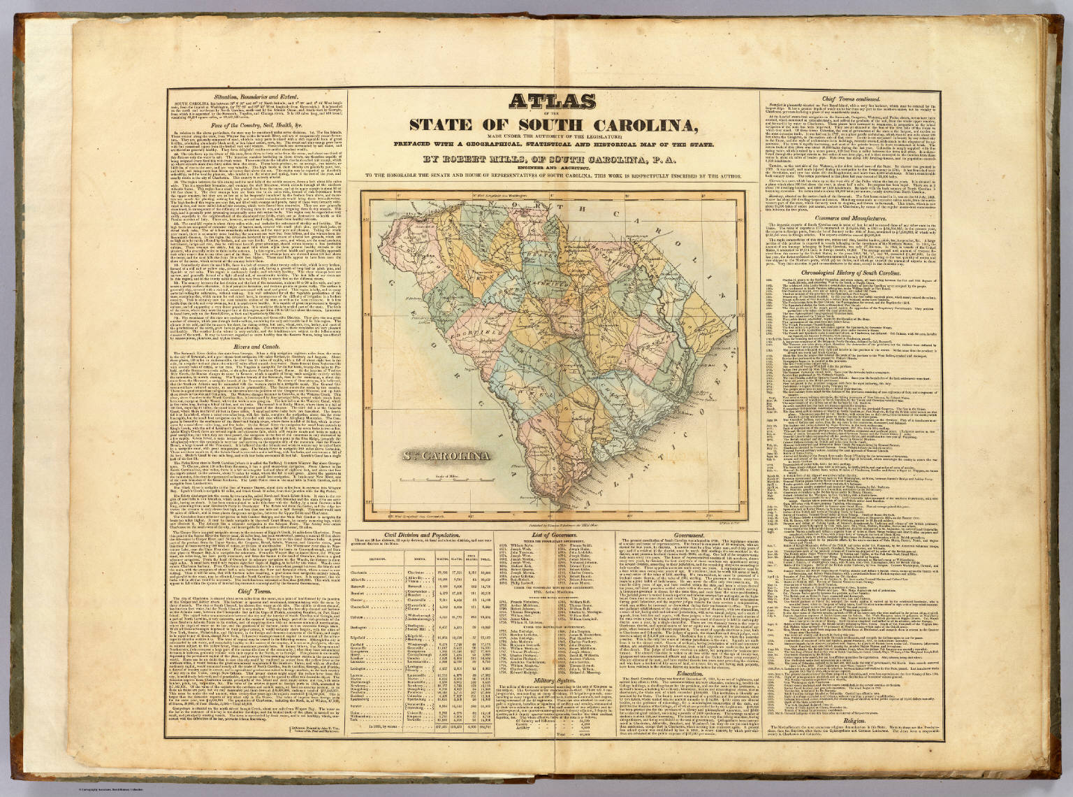 Title Page: Atlas of the State of South Carolina.