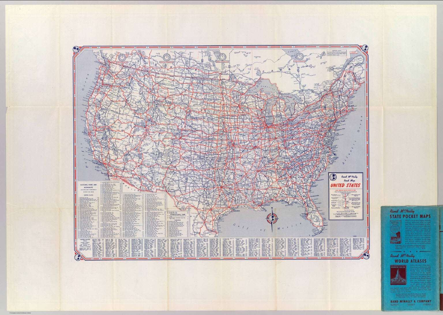 Road map United States. - David Rumsey Historical Map Collection