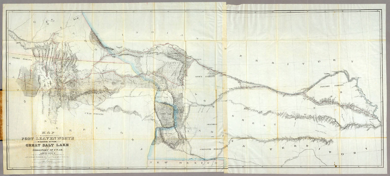 Map of a Reconnoissance between Fort Leavenworth ... and the Great ...