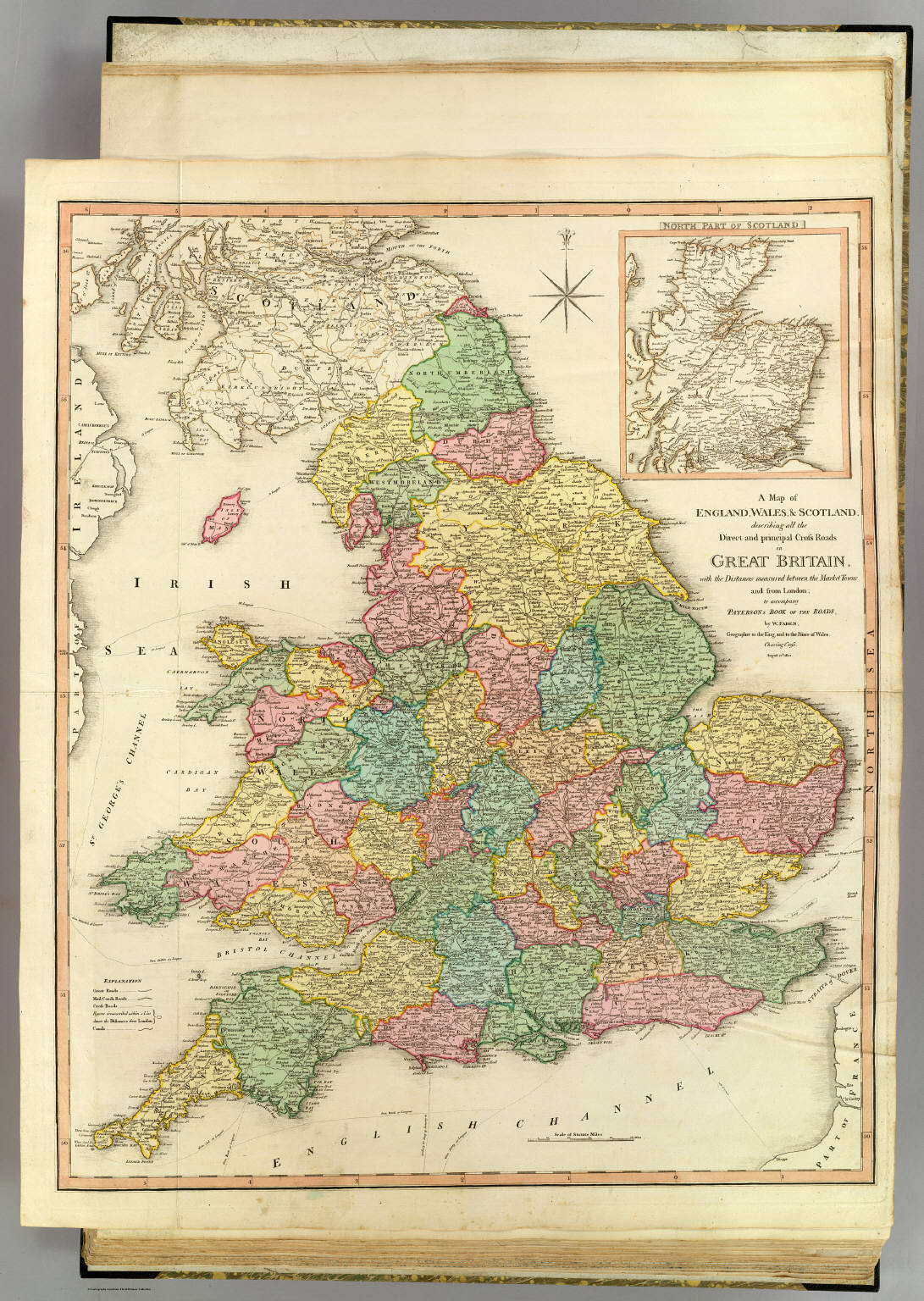 Map Of England Wales Scotland.England Wales Scotland David Rumsey Historical Map Collection