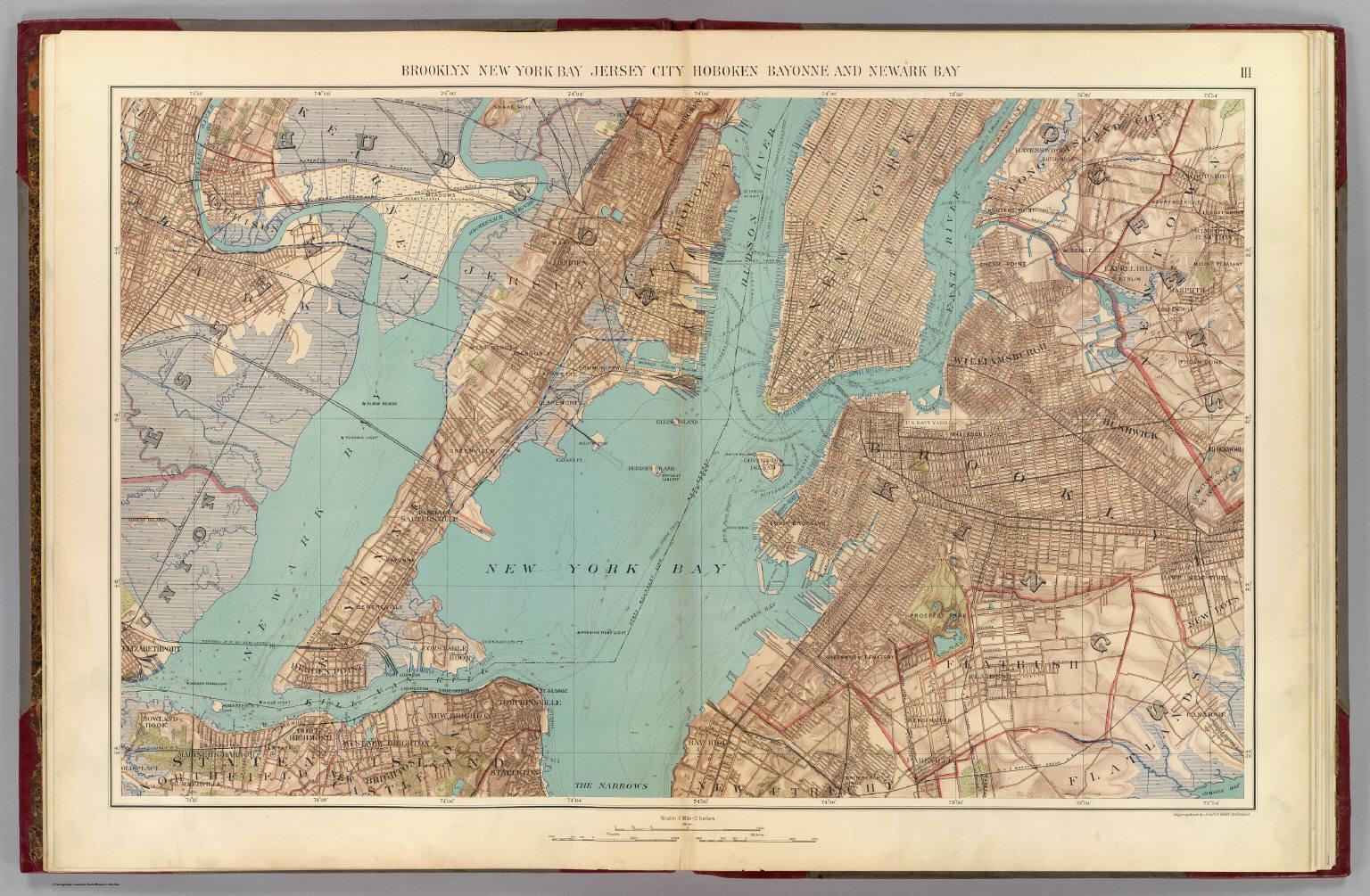 Brooklyn, N.Y. Bay, Jersey City, Hoboken, Bayonne, Newark Bay ... on