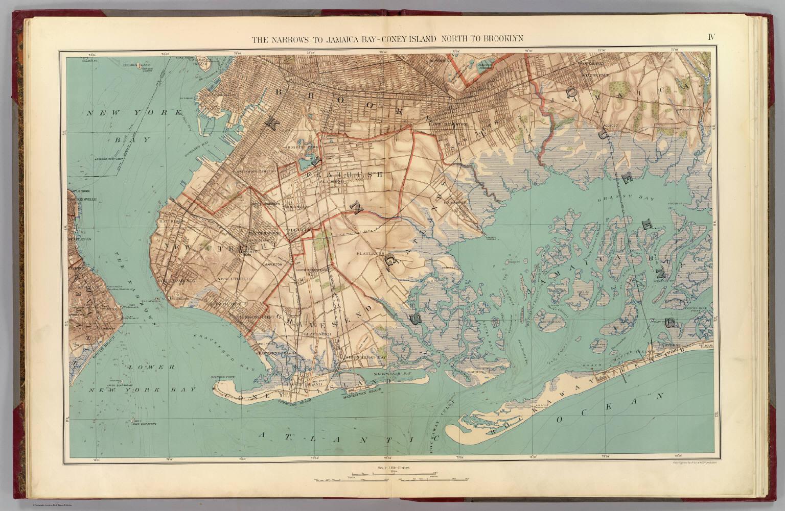 Narrows Jamaica Bay Brooklyn David Rumsey Historical Map Collection