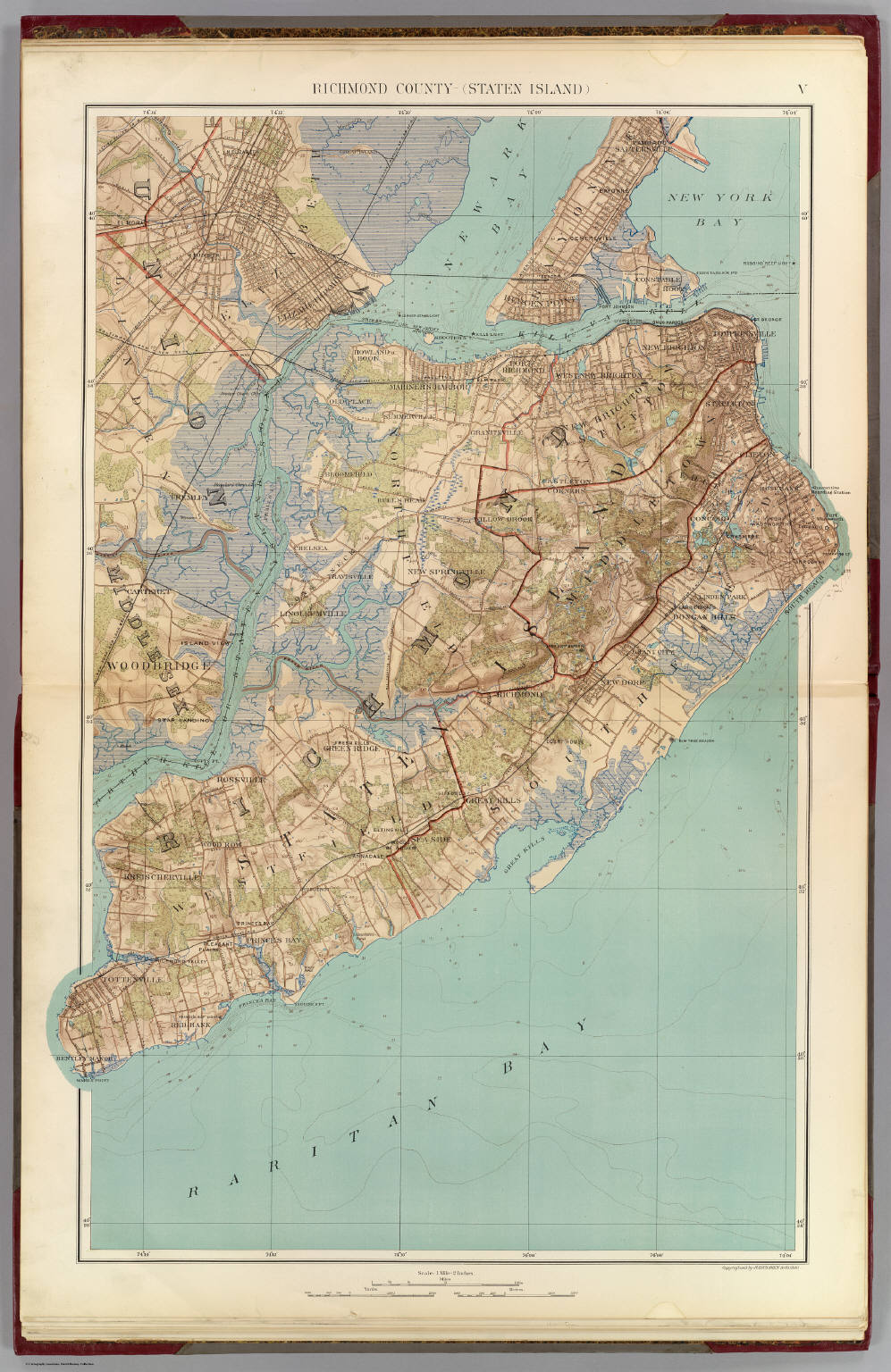 Richmond Co., Staten Island.   David Rumsey Historical Map Collection