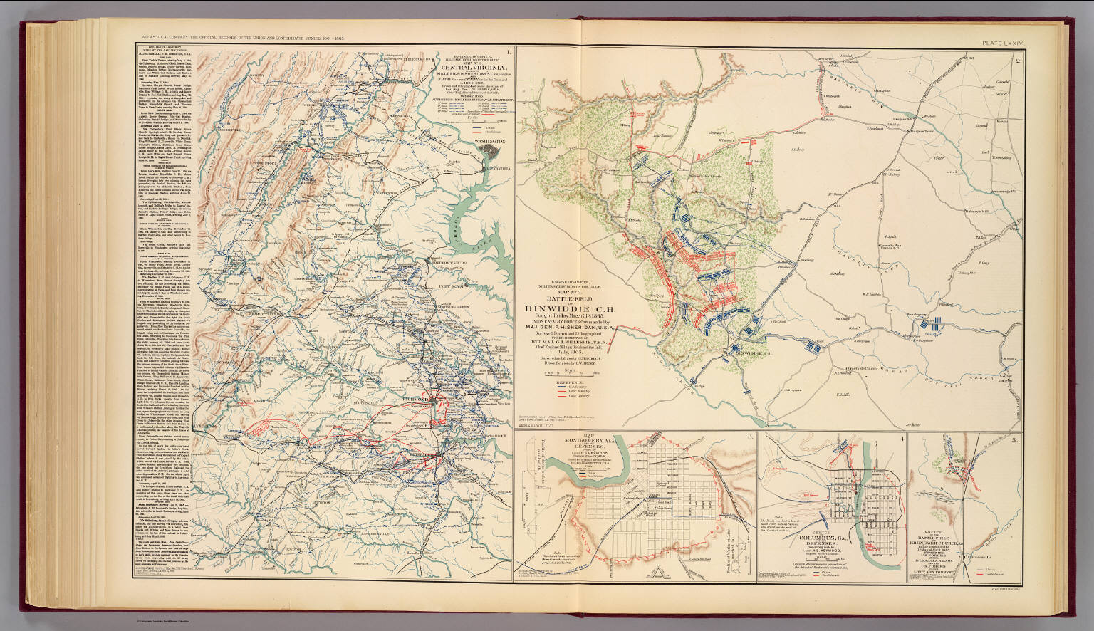 Central Virginia Map.Central Virginia Dinwiddie C H David Rumsey Historical Map
