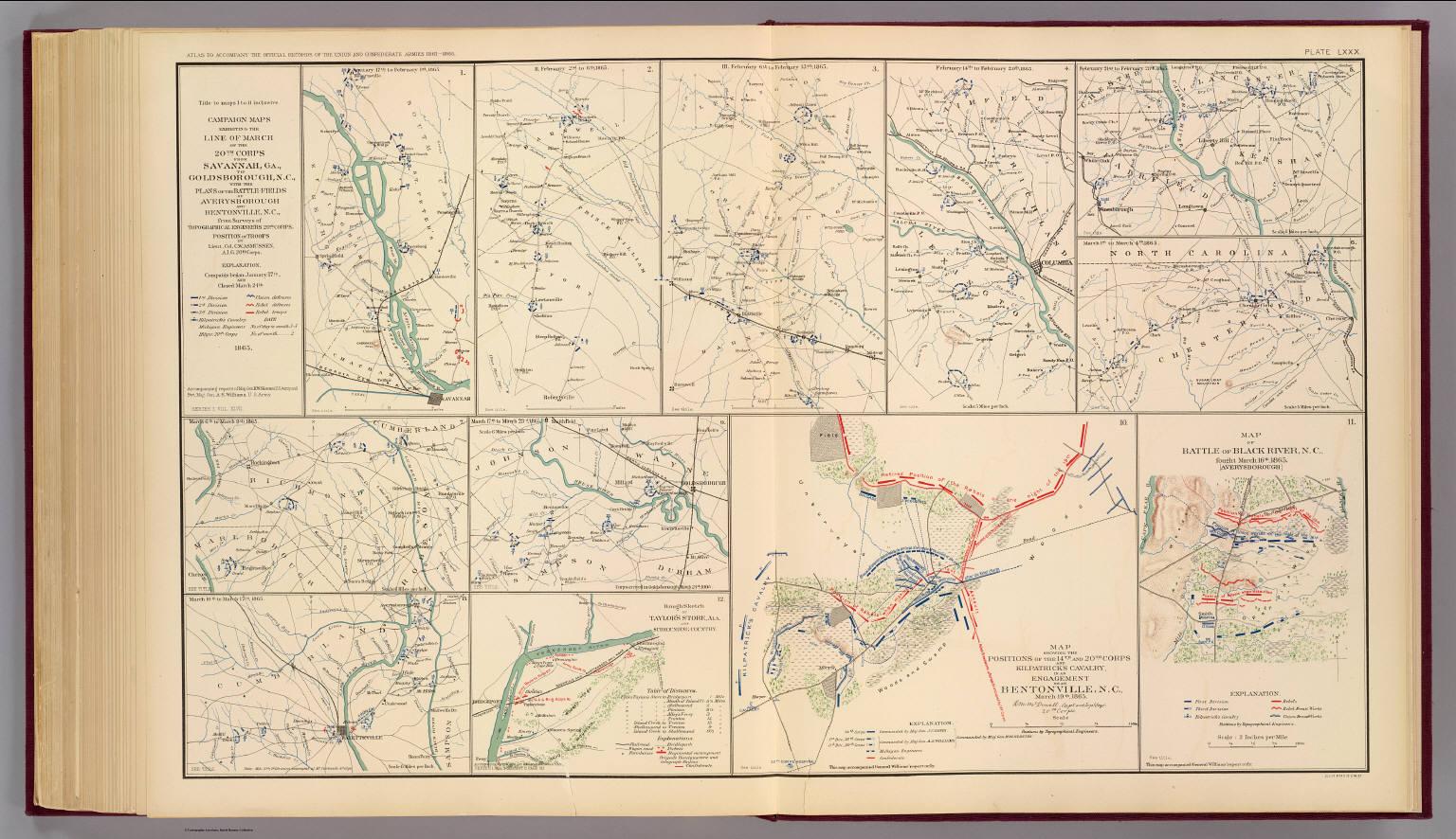 SavannahGoldsborough campaign maps David Rumsey Historical Map