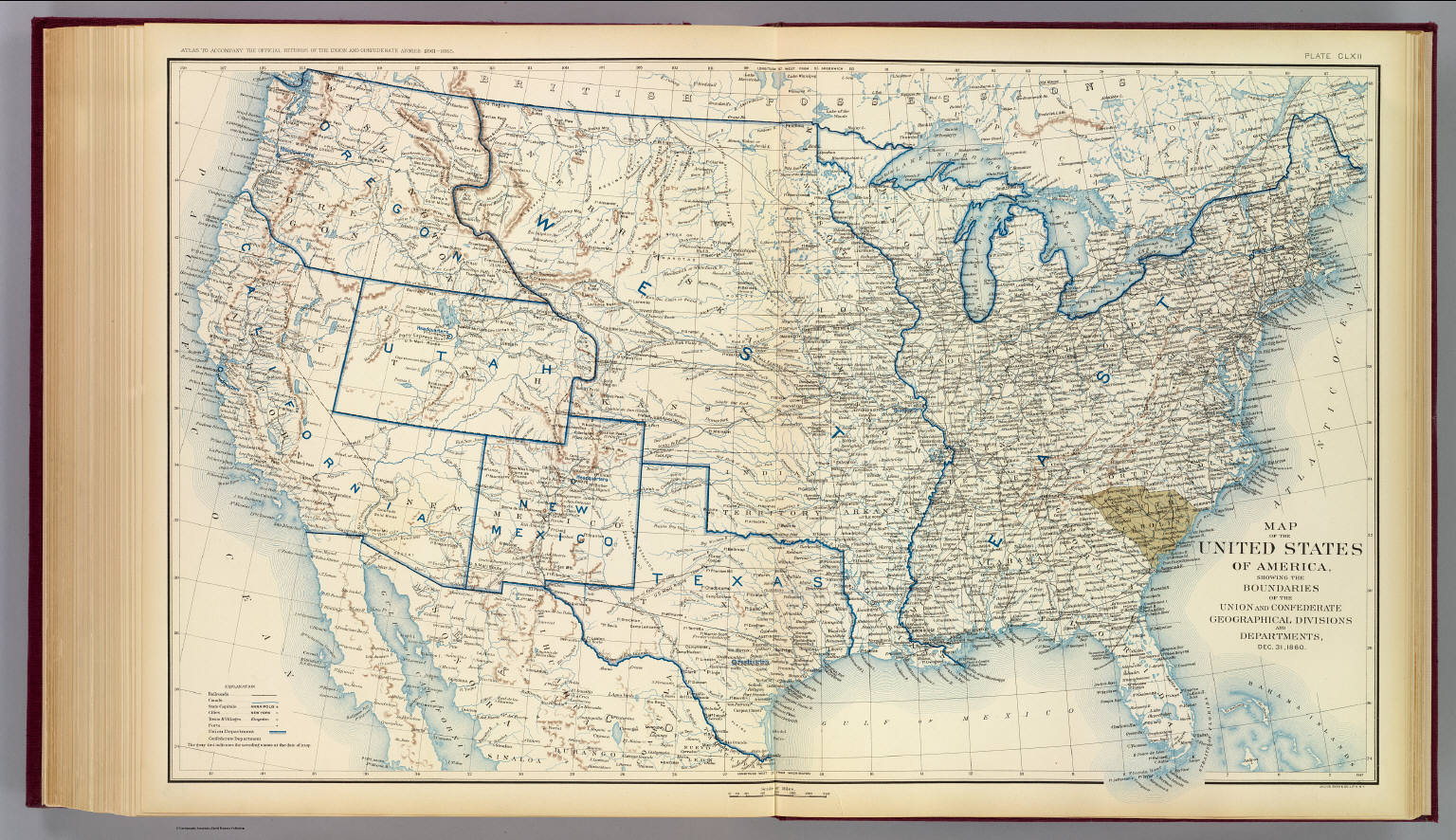 Usa dec 1860 david rumsey historical map collection usa dec 1860 m4hsunfo