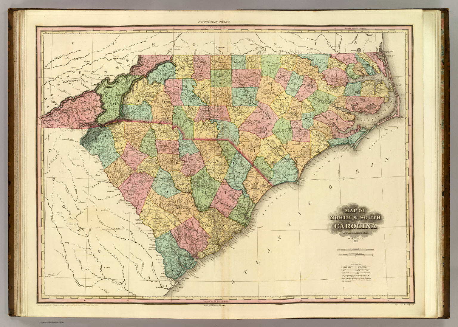 Map of North & South Carolina.   David Rumsey Historical Map