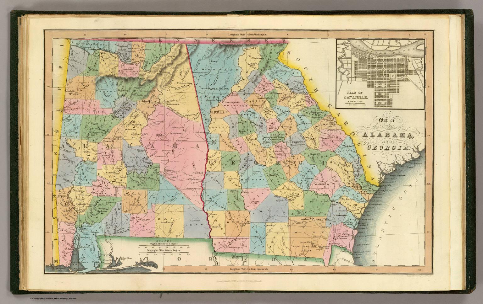 Alabama, Georgia. - David Rumsey Historical Map Collection