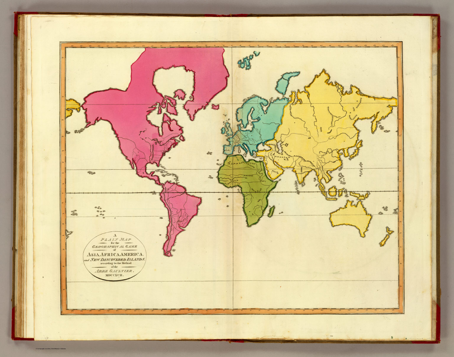 Plain Map World David Rumsey Historical Map Collection