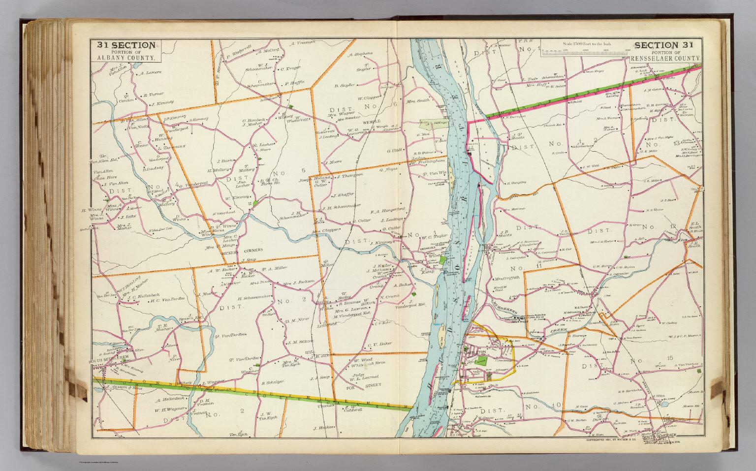 31 Albany, Rensselaer counties.