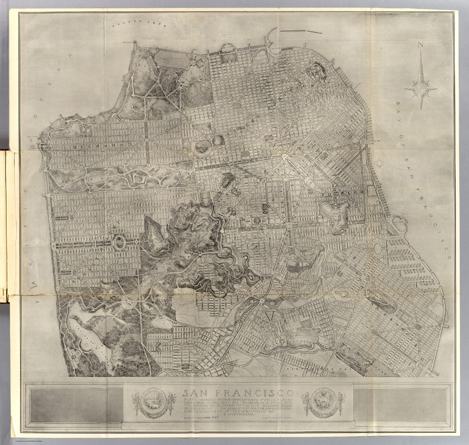 California Map Fault Lines%0A San Francisco Plan David Rumsey Historical Map Collection          RUMSEY