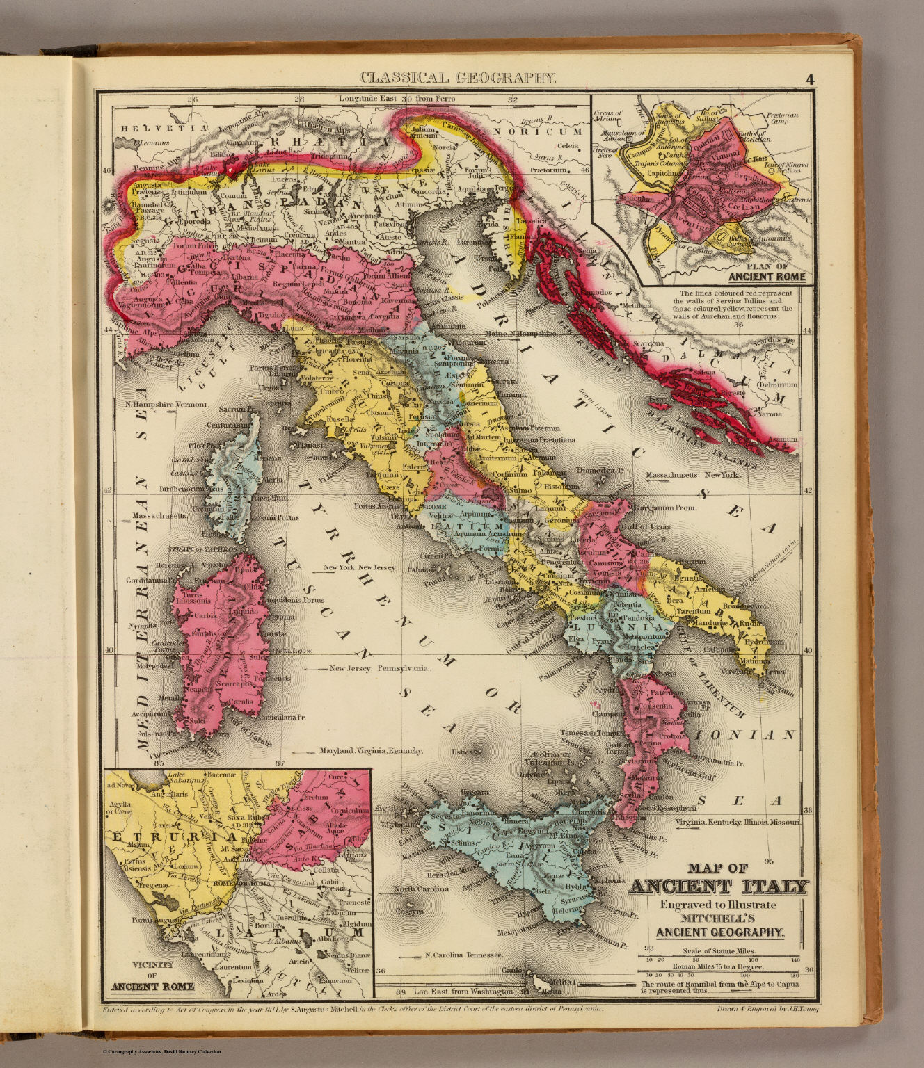Ancient Italy David Rumsey Historical Map Collection - Buy ancient maps