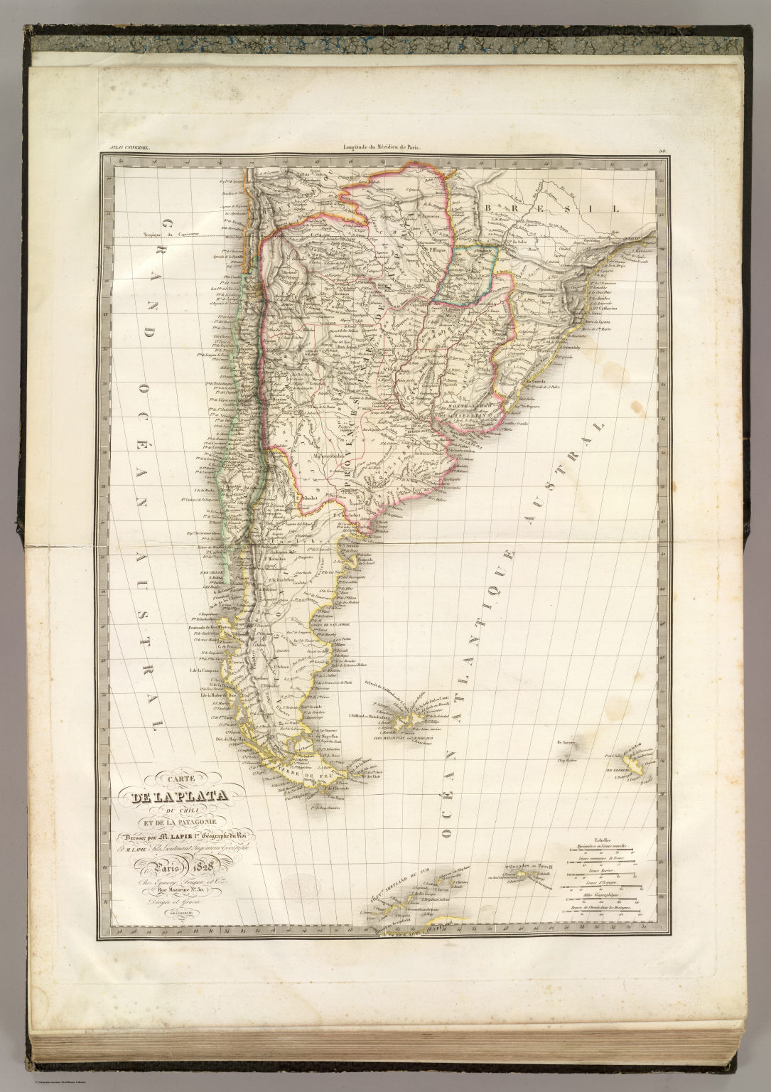 La Plata Chili Patagonie David Rumsey Historical Map Collection