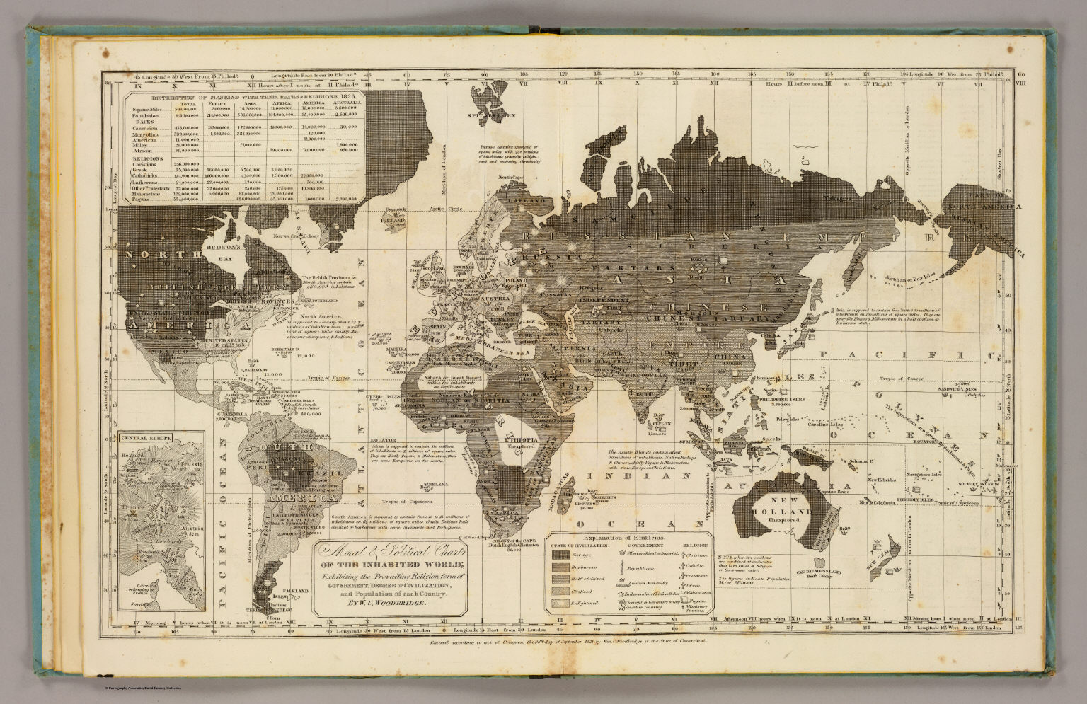 Moral, political World. - David Rumsey Historical Map Collection