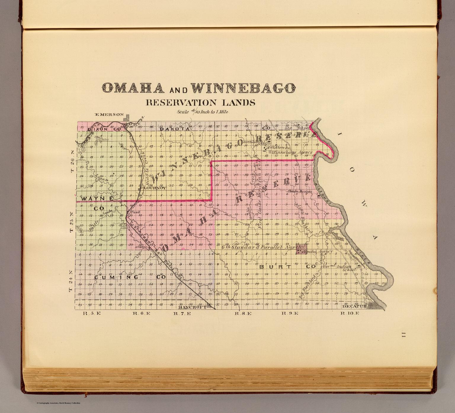 omaha winnebago reservation lands
