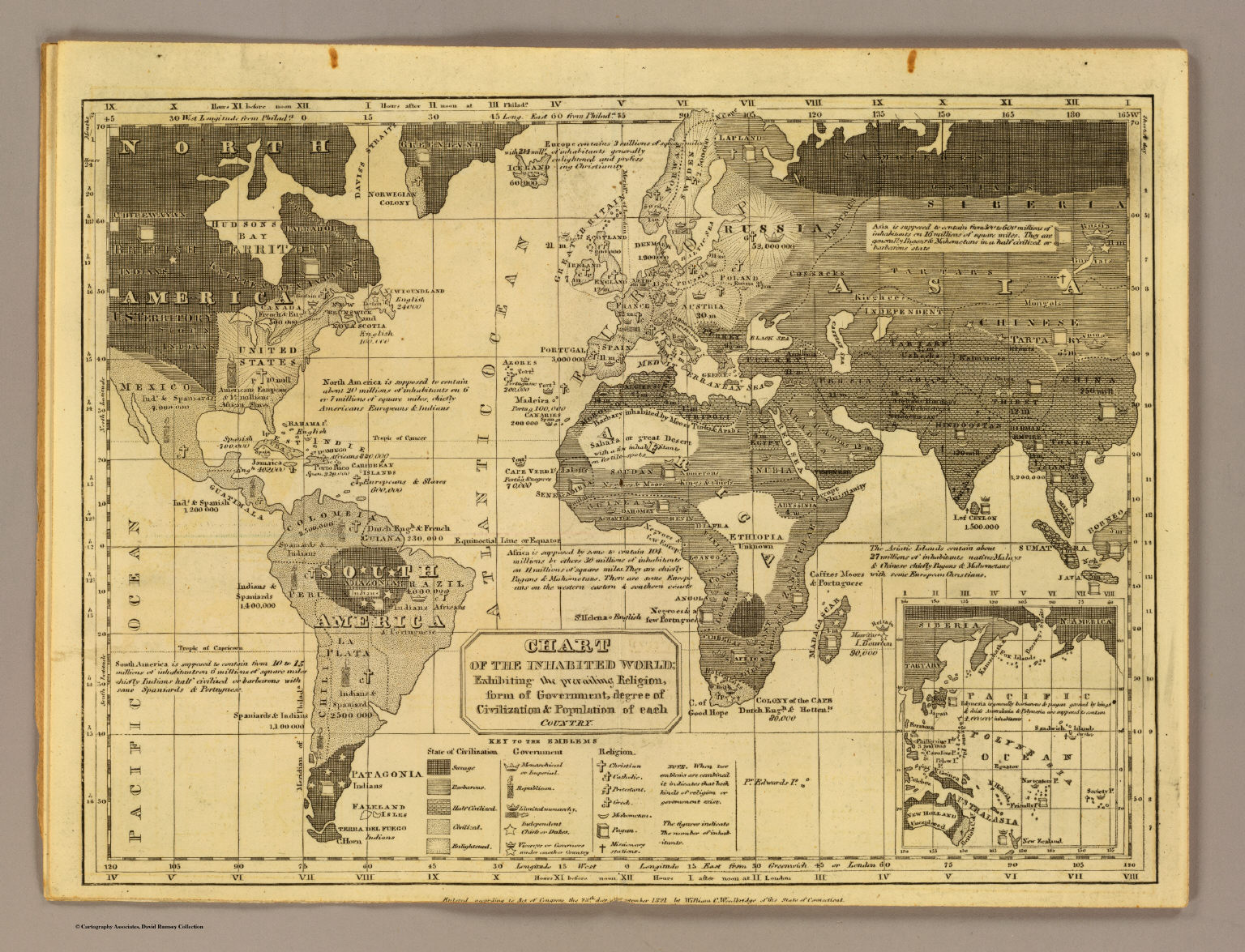 Inhabited world david rumsey historical map collection inhabited world gumiabroncs Images