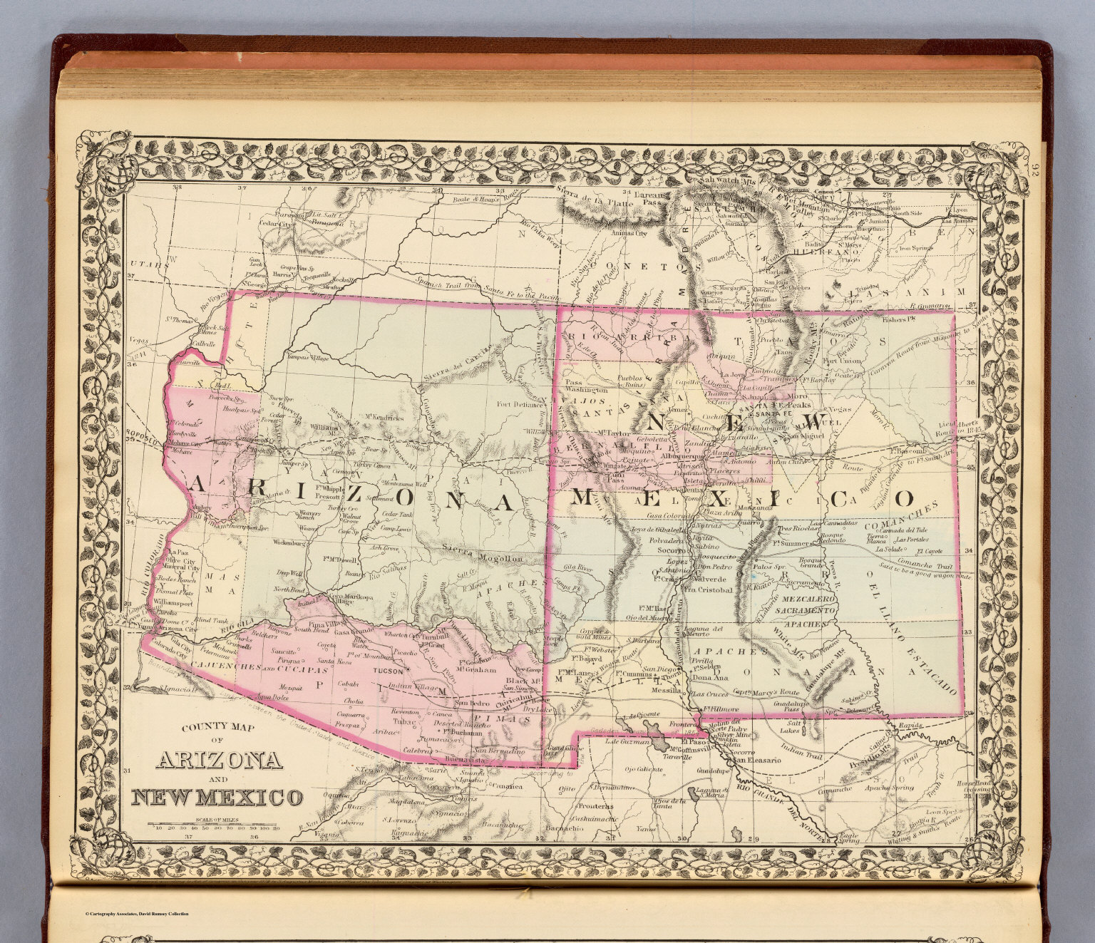 Map Of Arizona 1880.Arizona New Mexico David Rumsey Historical Map Collection