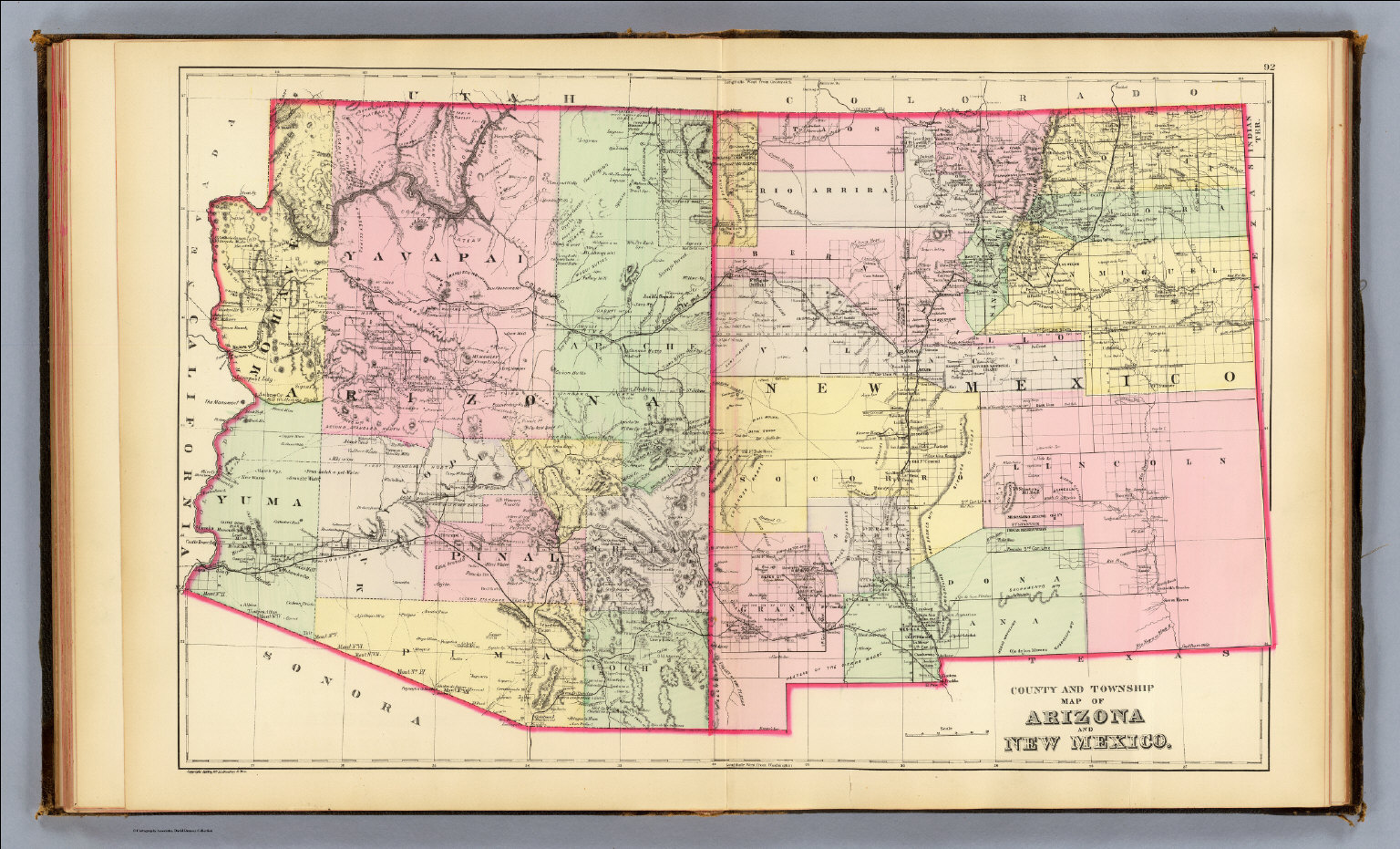 Arizona, New Mexico. - David Rumsey Historical Map Collection