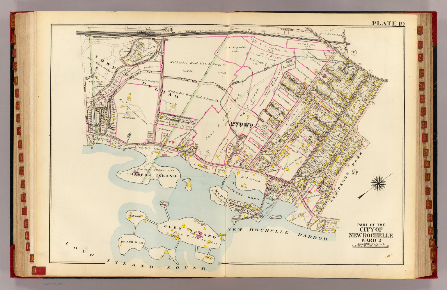 New Rochelle ward 2 David Rumsey Historical Map Collection