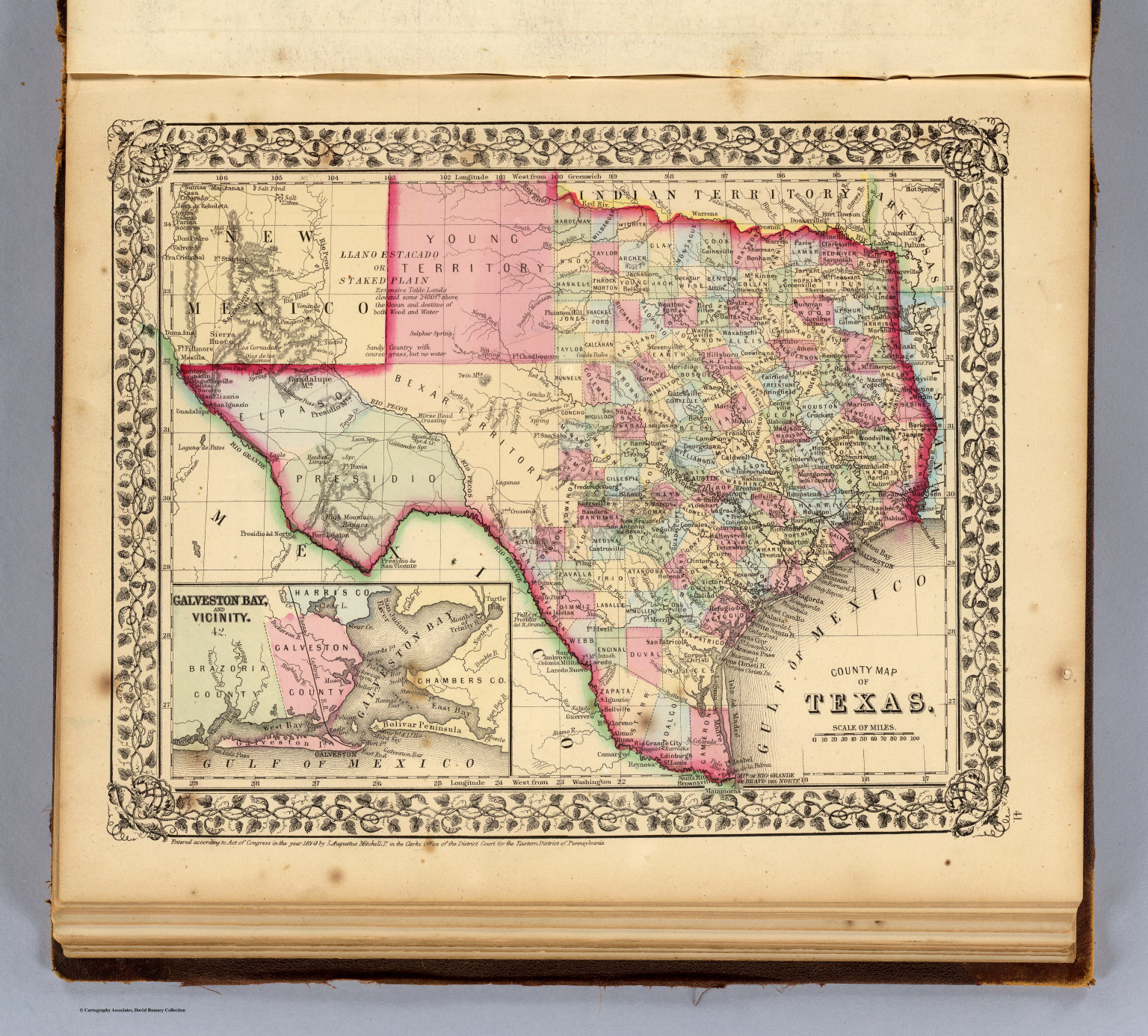 Texas.   David Rumsey Historical Map Collection