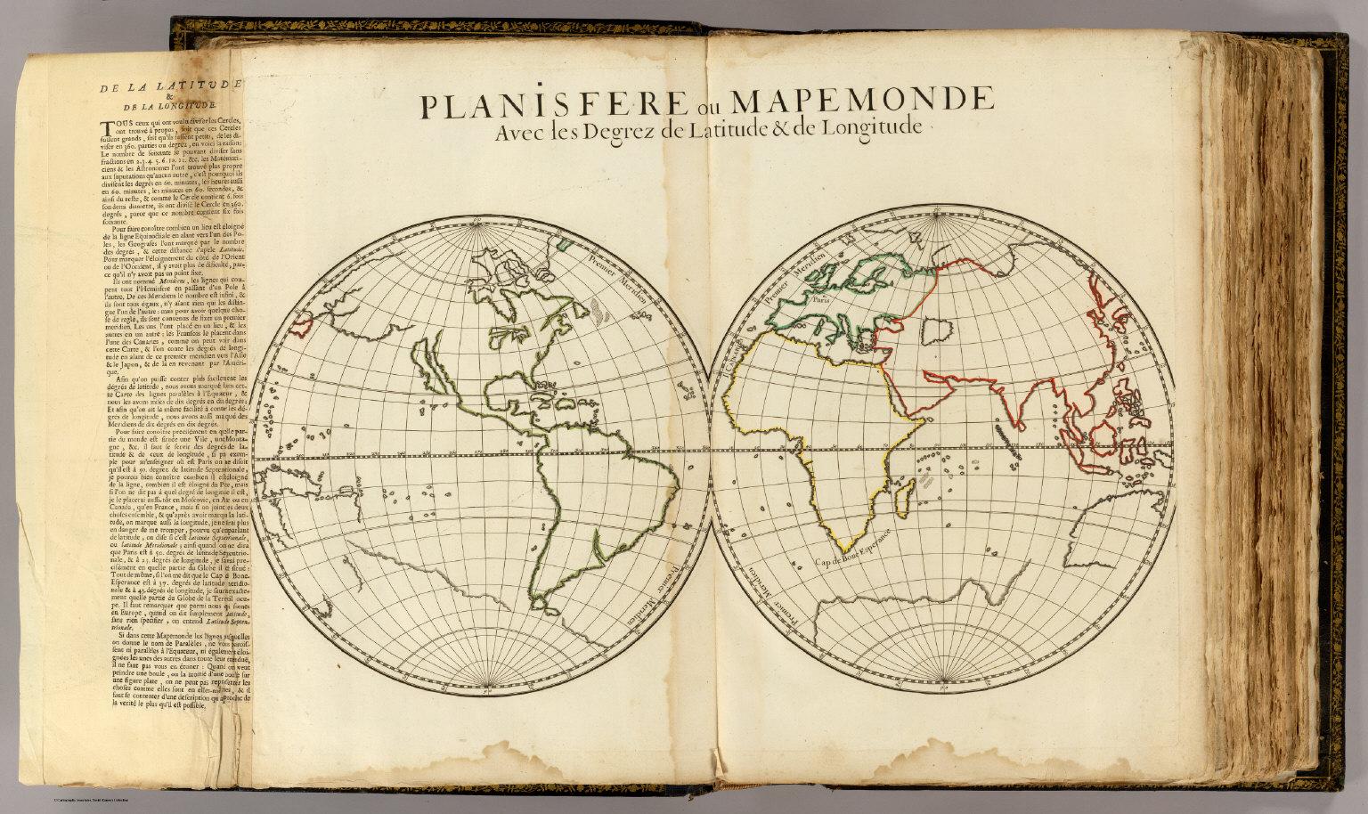 Planisfere latitude longitude David Rumsey Historical Map