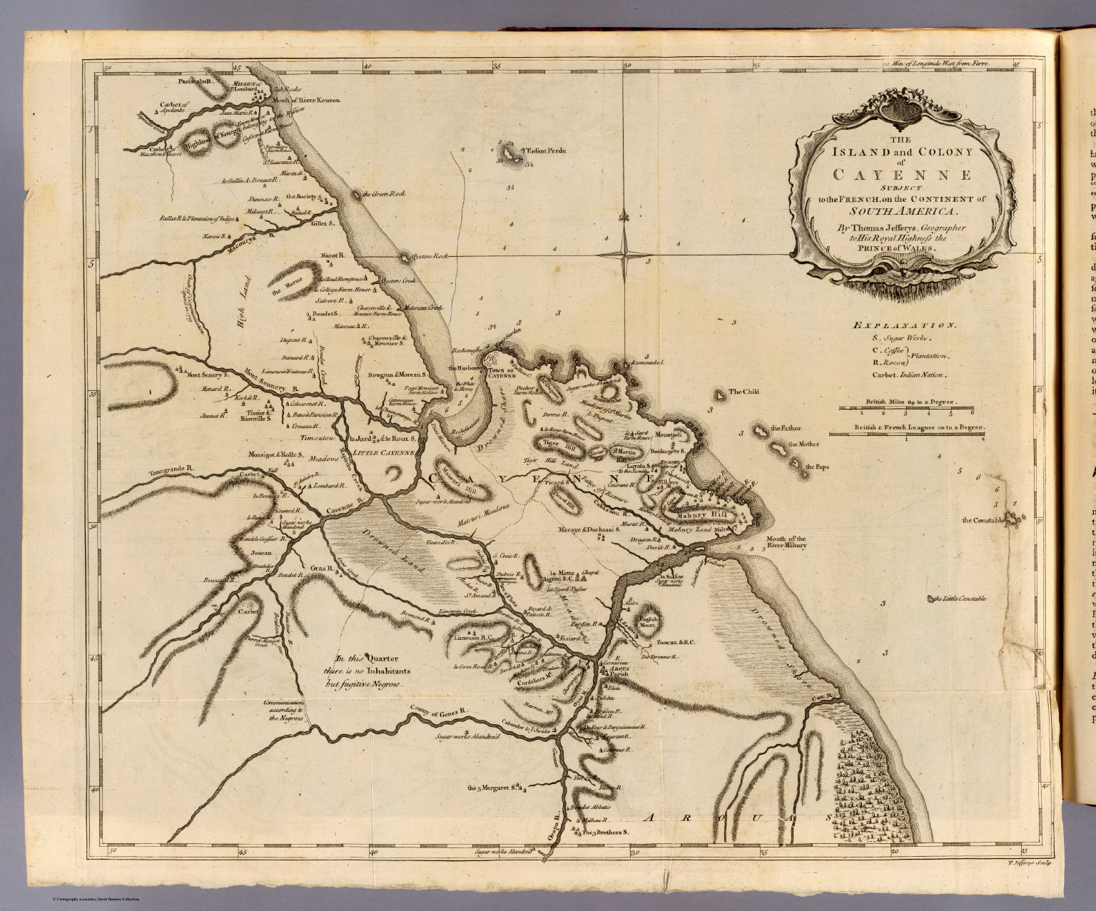 Cayenne David Rumsey Historical Map Collection