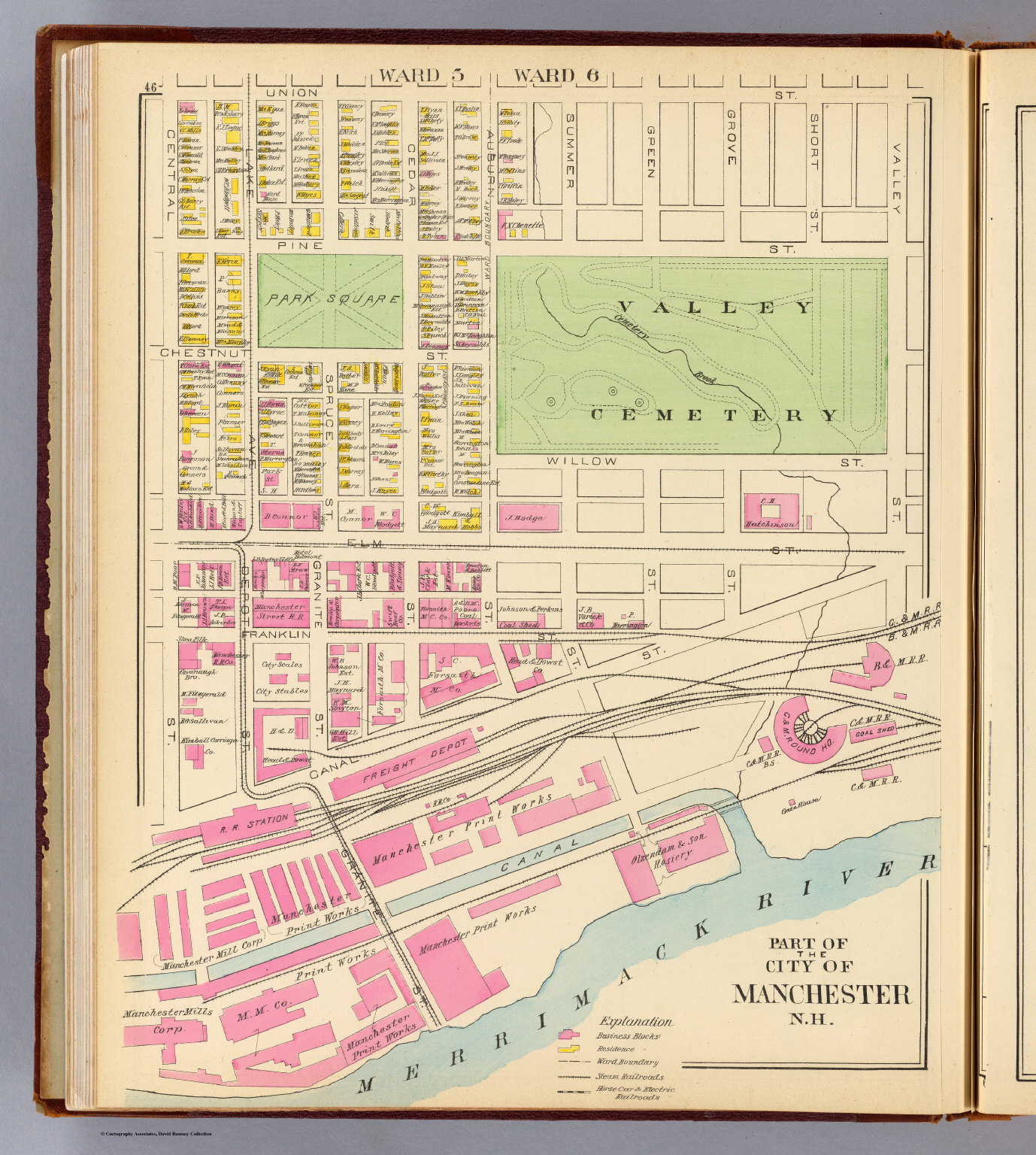 Manchester, N.H., part. - David Rumsey Historical Map Collection