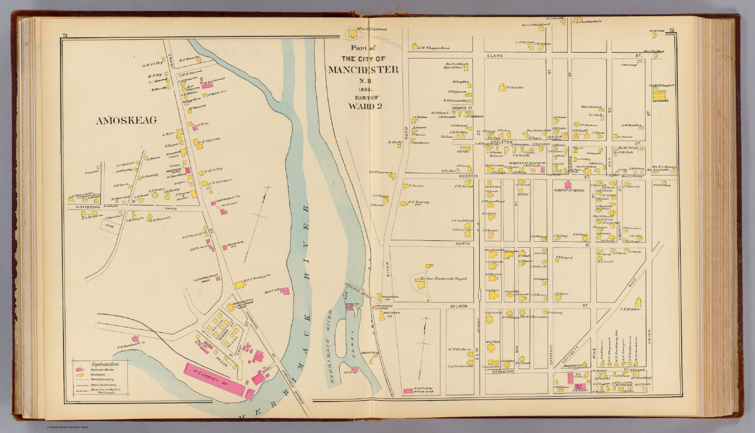 Manchester, N.H., Ward 2. - David Rumsey Historical Map Collection