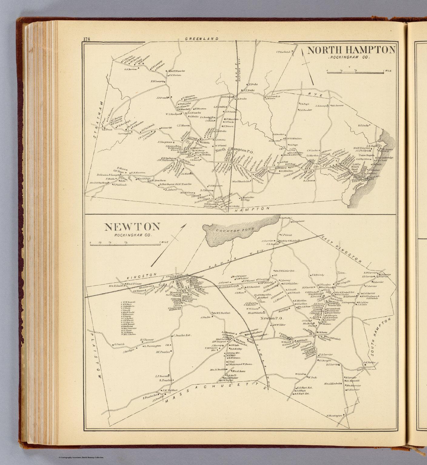 N Hampton Newton David Rumsey Historical Map Collection