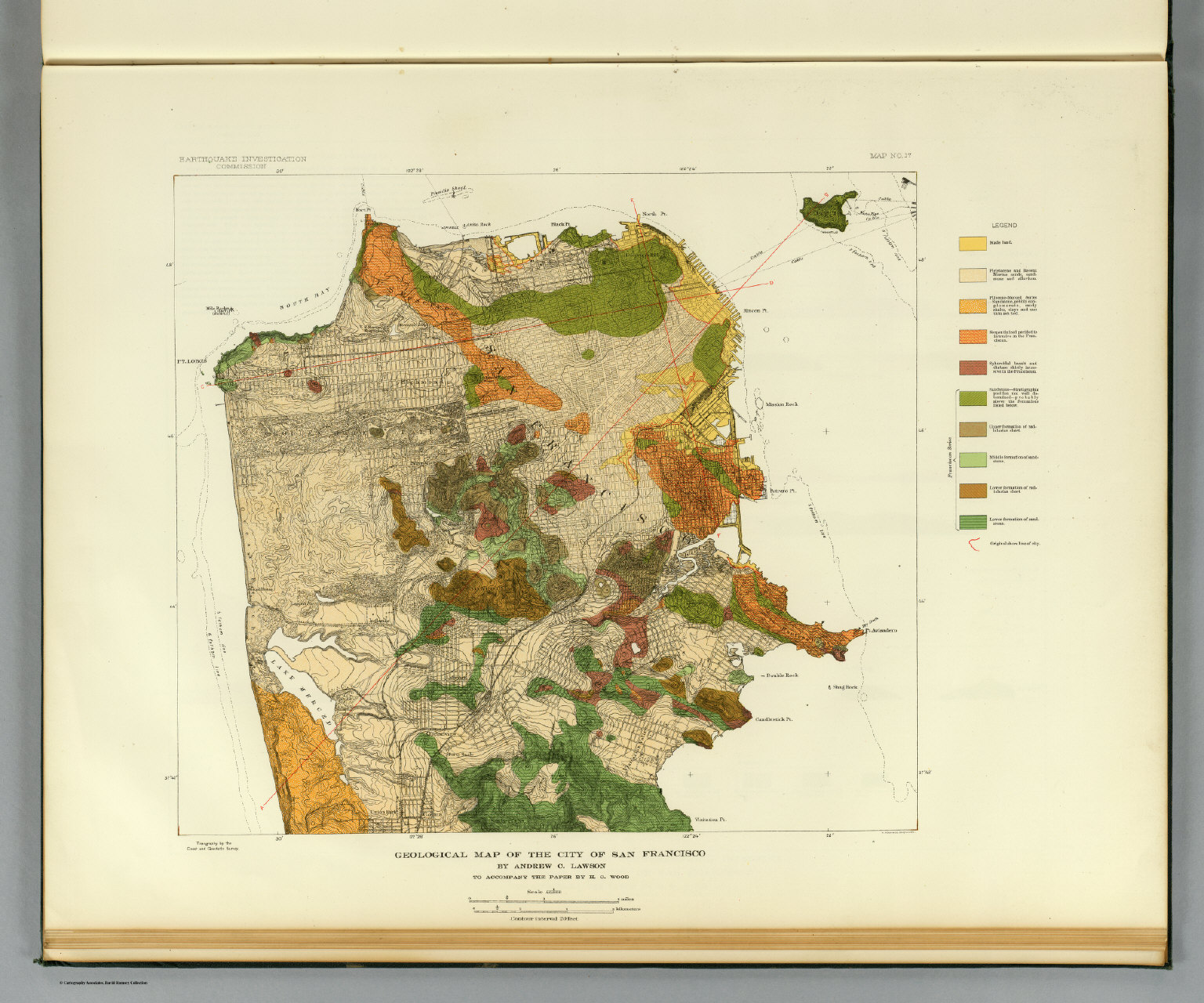 Geological map San Francisco David Rumsey Historical Map Collection