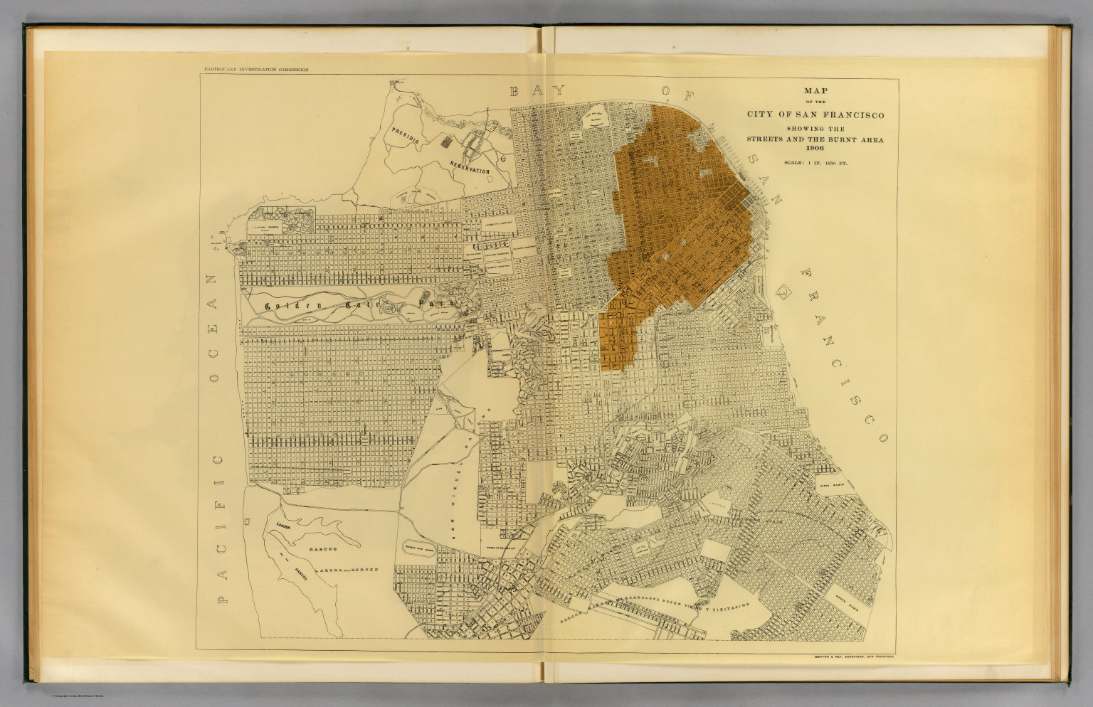 San Francisco Burnt Area 1906 David Rumsey Historical Map Collection