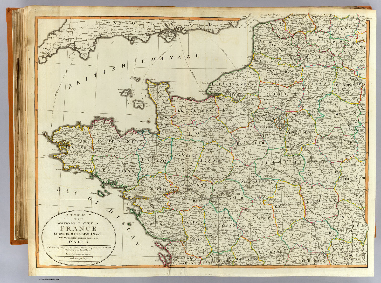 Map Of Northwest France.N W France David Rumsey Historical Map Collection