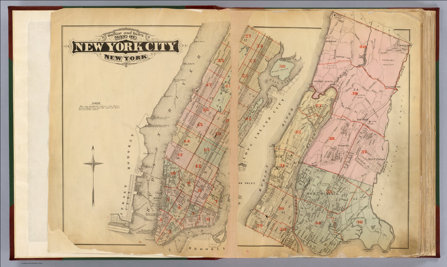 Index map: Atlas, city of New York.