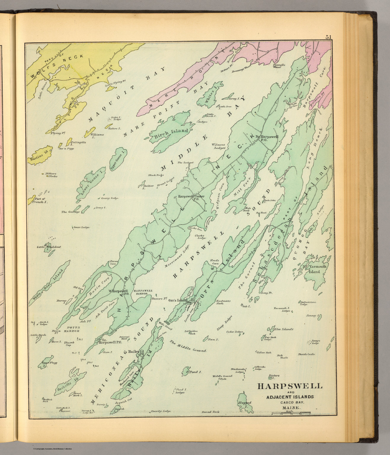 Harpswell, adjacent islands.   David Rumsey Historical Map Collection