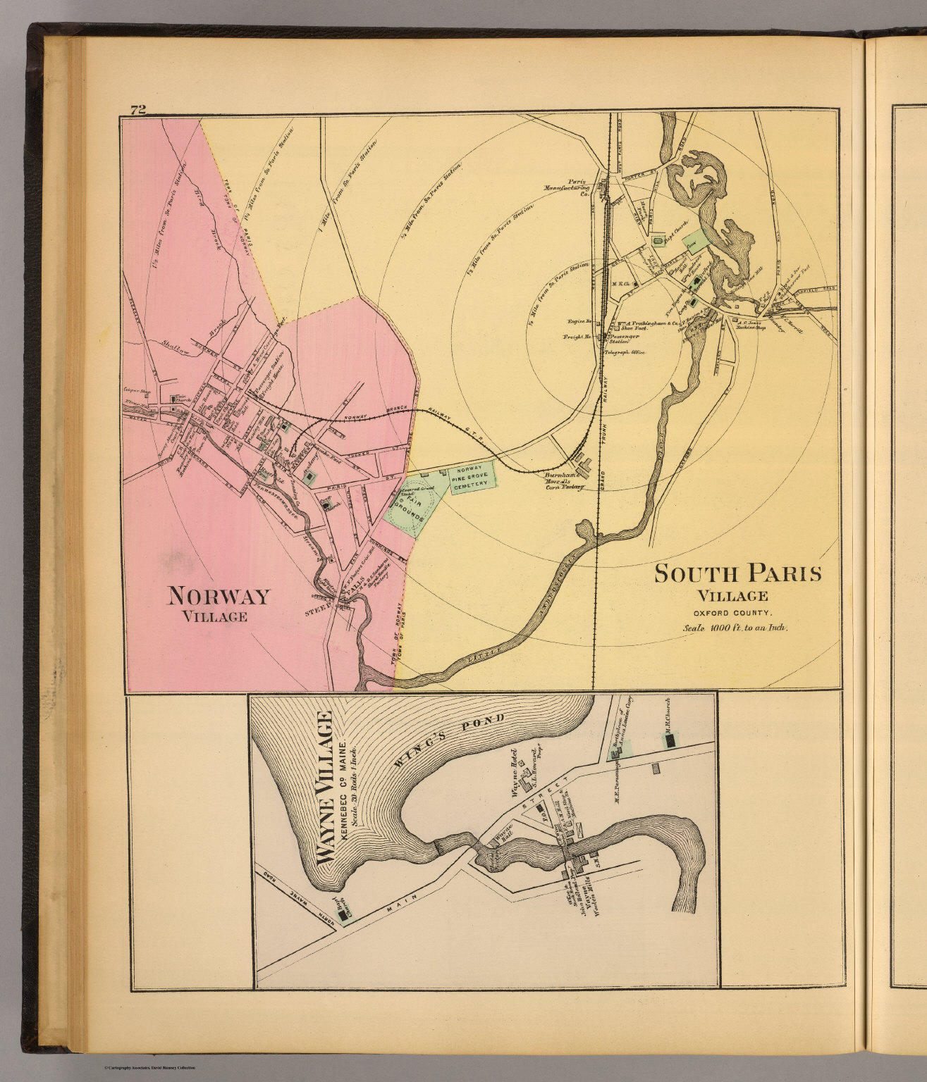 South Paris Maine Map.Norway South Paris David Rumsey Historical Map Collection