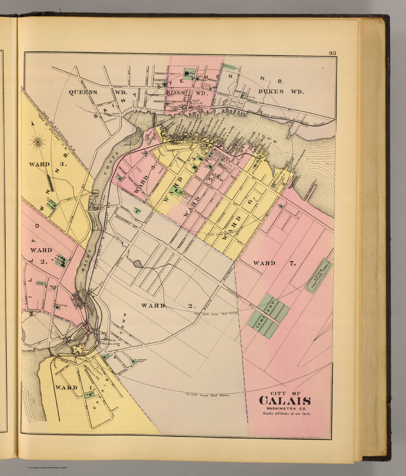 Calais Washington Co David Rumsey Historical Map Collection