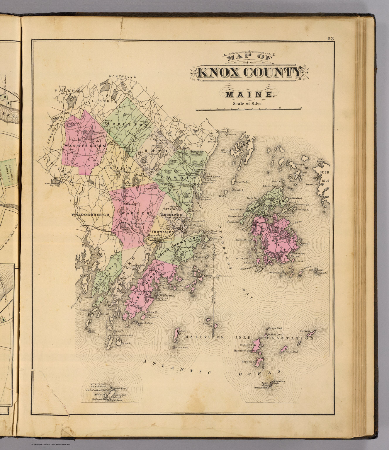 Knox Co Maine David Rumsey Historical Map Collection