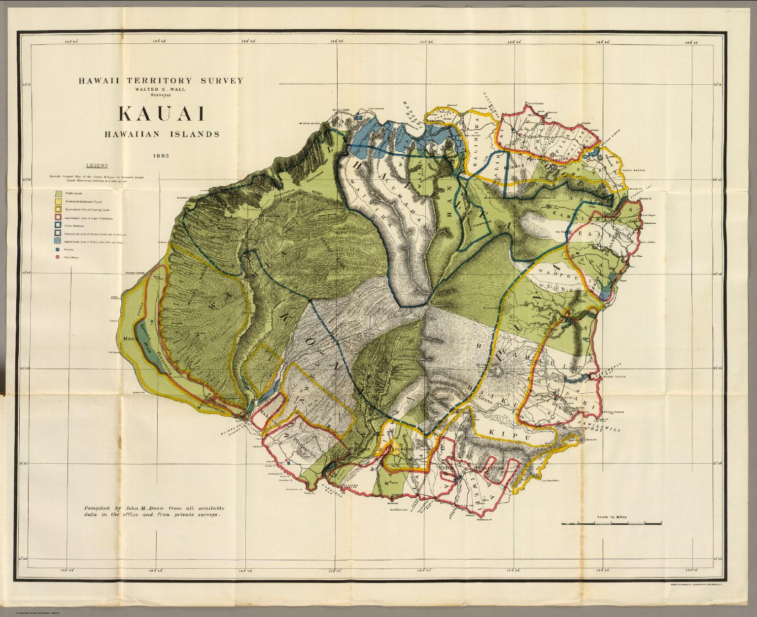 photo regarding Printable Map of Kauai known as Kauai. - David Rumsey Historic Map Variety