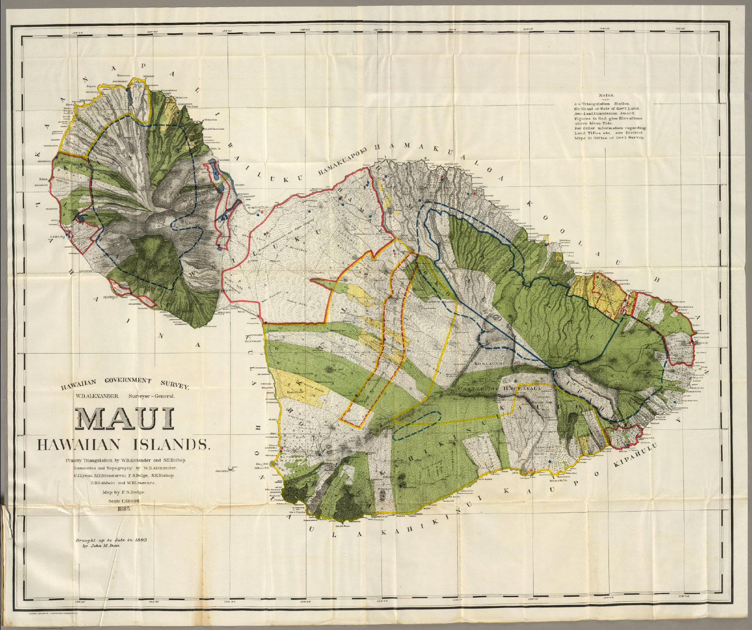 Maui david rumsey historical map collection maui thecheapjerseys Choice Image
