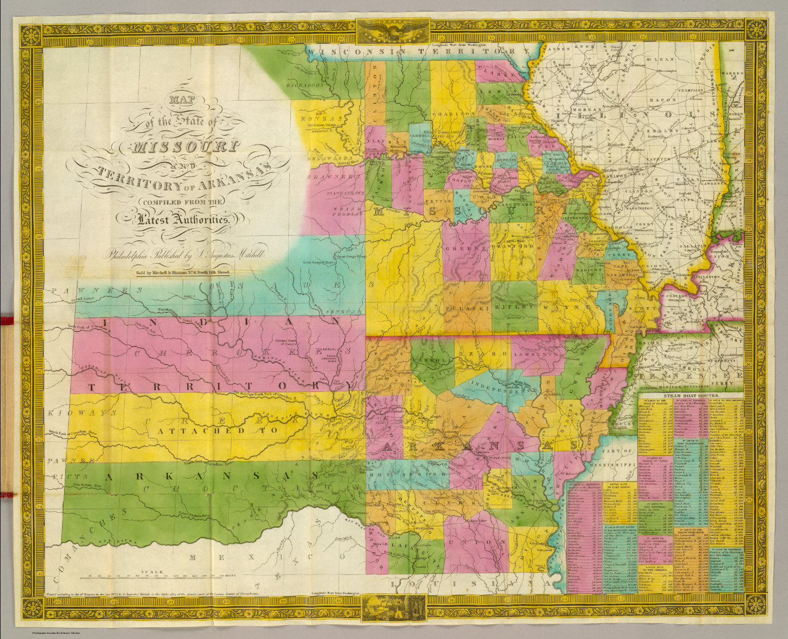 Map of the State of Missouri And Territory of Arkansas David