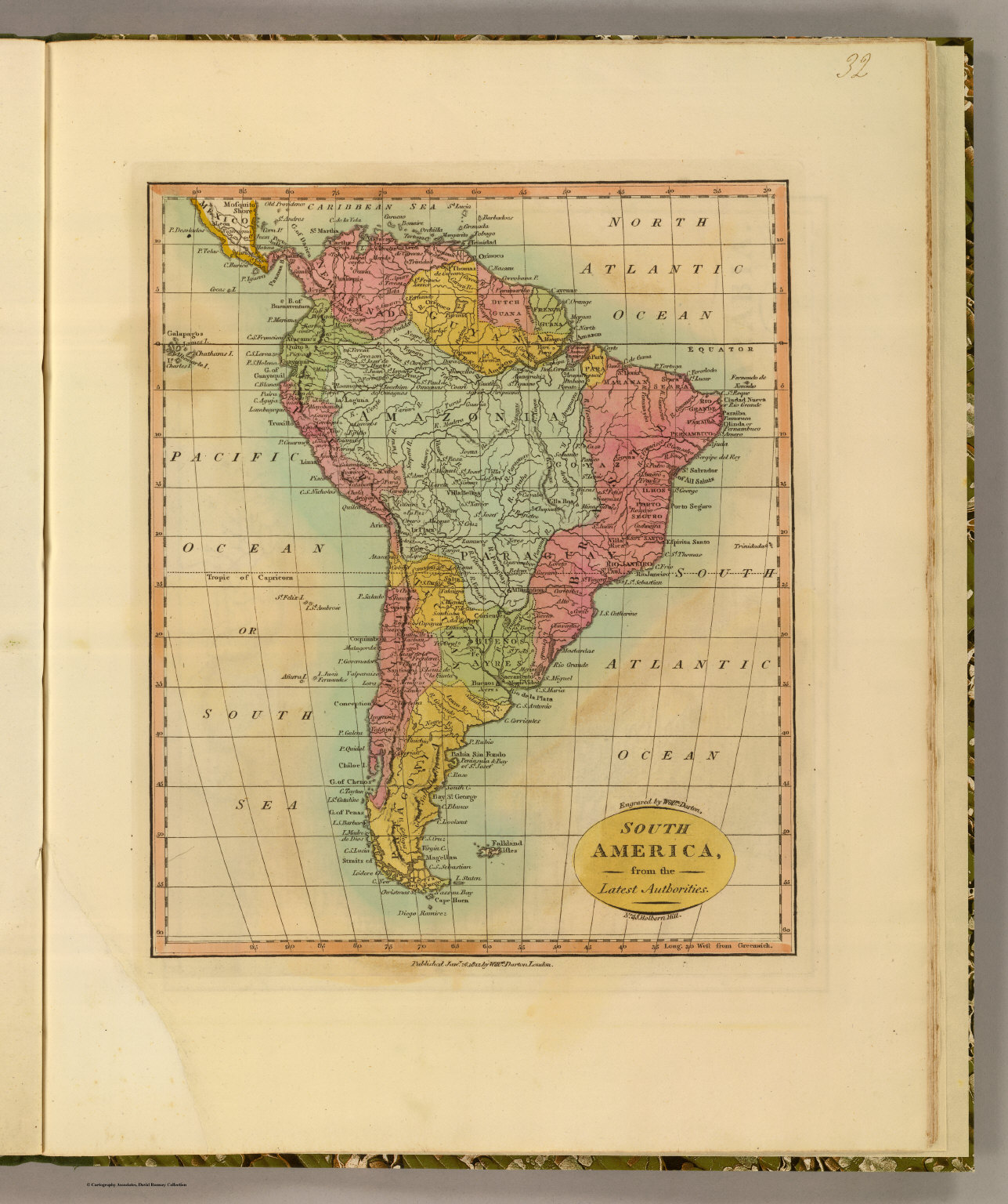 South America. - David Rumsey Historical Map Collection on